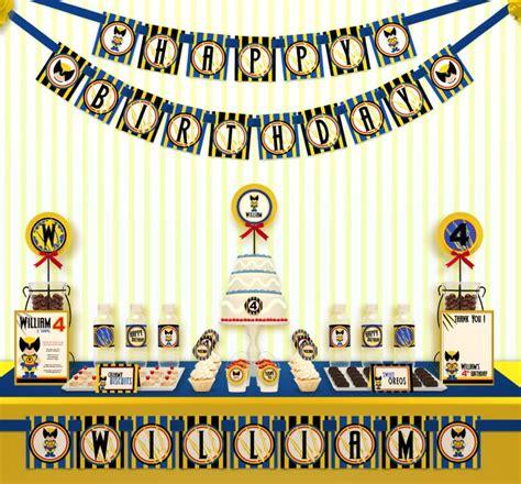 x decorations printable diy superheroes xmen wolverine birthday