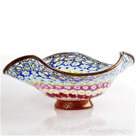 murano glass decorative bowl with murrine millefiori free