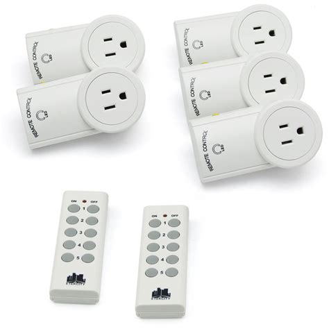 plug in l dimmer with remote 1 2 3 5 pack wireless remote control light switch outlet