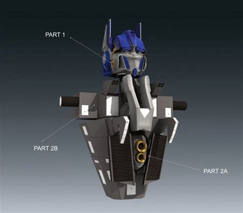 Transformers Papercraft Optimus Prime - transformers optimus prime papercraft part 2b
