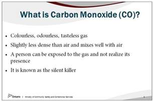what co carbon monoxide alarm training materials ministry of
