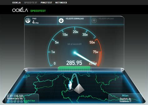 test speed fastweb peddgluch