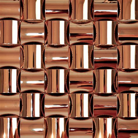 Brown chrome stainless steel backsplash arched mosaic