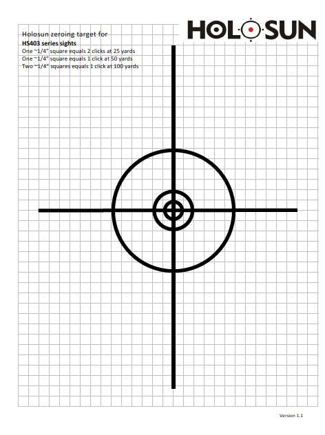 printable scope zeroing targets holosun ca zeroing target
