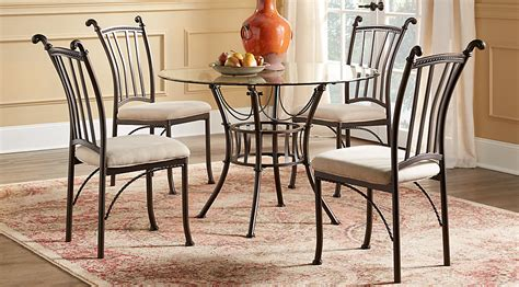 metal dining room furniture hoyt 45 in metal 5 pc round dining set dining room sets