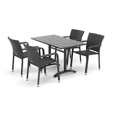 outdoor furniture package 1 table 4 rattan armchairs