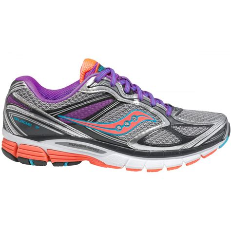saucony guide 7 running shoes guide 7 road running shoes silver vizicoral purple s