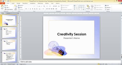 Powerpoint For Brainstorming Template A Template In Powerpoint