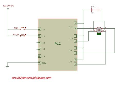 plc stepper motor plc programming for stepper motor circuit 2 connect