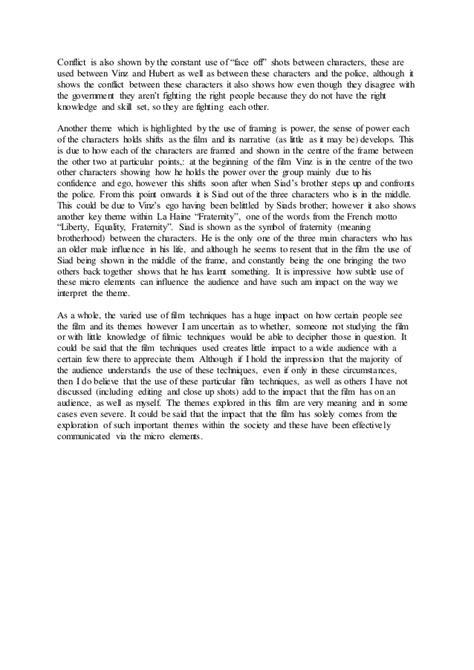 La Haine Essay by La Haine Themes