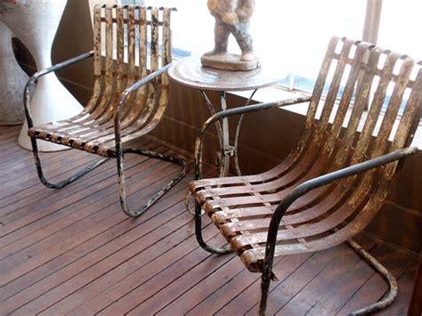 Swing Chair Patio Vintage Steel Slat Bouncers Vintage Metal Porch Chairs