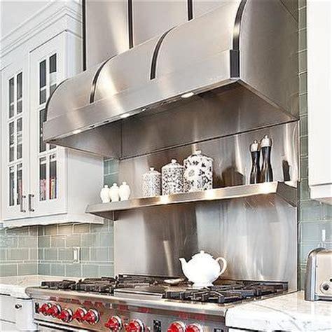 wolf stainless steel backsplash gray subway tiles contemporary kitchen jaffa