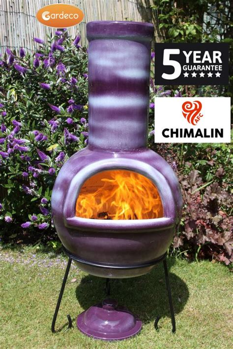 chiminea covered patio gardeco sempra chimalin afc large purple chiminea patio