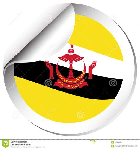 icon design brunei sticker design for brunei flag cartoon vector