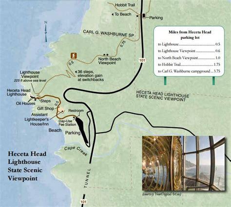 map of oregon lighthouses heceta lighthouse