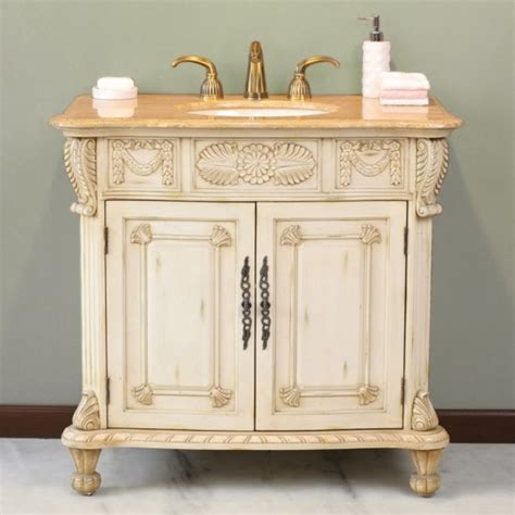 Antique Bathroom Vanity Cabinet Captivating Antique White Bathroom Wall Cabinets With Decorative Carved Wood Trim And Wrought