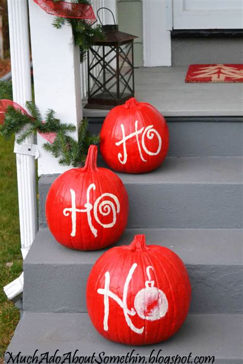 pumpkins decorated for christmas ways to use pumpkins for pumpkin decorations