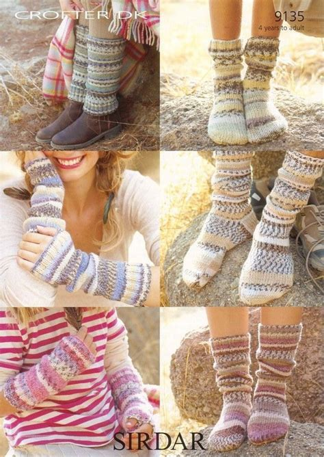 leg warmers knitting pattern 8 ply socks leg warmers and wrist warmers in sirdar crofter dk