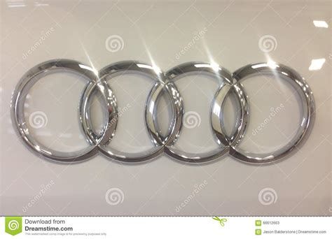 audi four rings editorial stock photo image 66612663