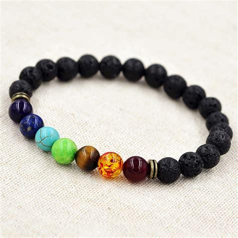 healing bead bracelets 7 gemstone chakra healing balance bracelet for meditation