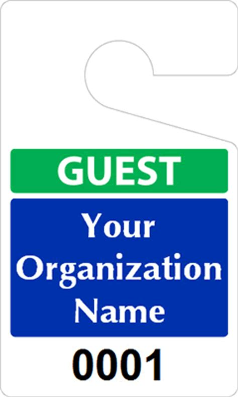 Guest Parking Passes Customize Online Visitor Parking Pass Template