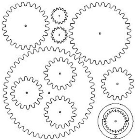 printable clock gears 11 best gears images on pinterest silhouettes steunk