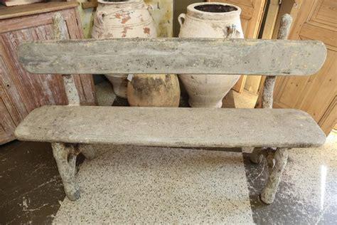 faux stone garden bench faux bois garden bench at 1stdibs