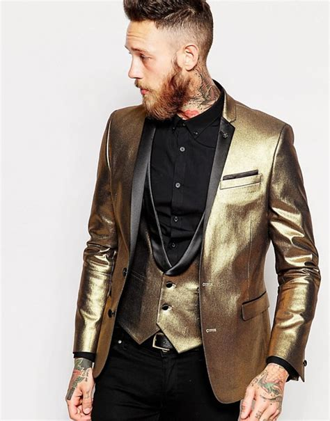 Celana Formal Pria Slim Fit Brown Kode Ck 02 asos asos slim blazer in gold