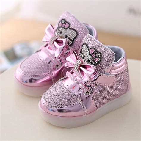 Sandal Cewek 6 new cat princess sports shoes autumn winter led sneakers korean