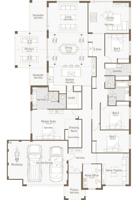 large floor plan large house plan big garage sketch home office floor plans