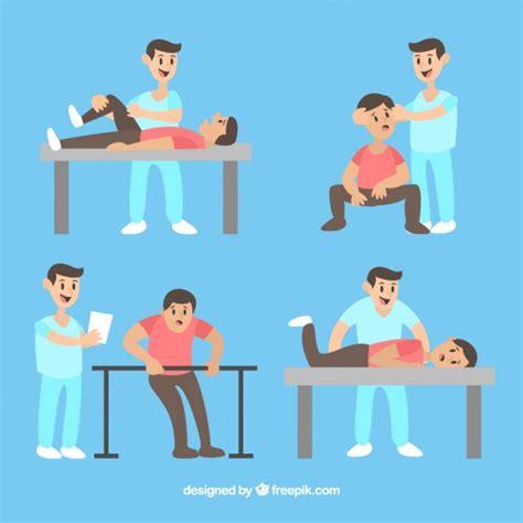 imagenes feliz dia fisioterapeuta paciente haciendo ejercicio con el fisioterapeuta