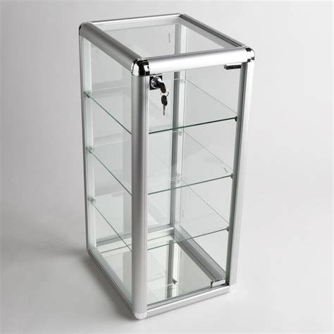 lockable glass display cabinet showcase glass display case with 3 shelves a b store fixtures