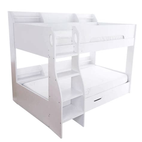 White Bunk Beds With Storage Drawers White Bunk Bed With Storage Modern Bunk Beds Fads