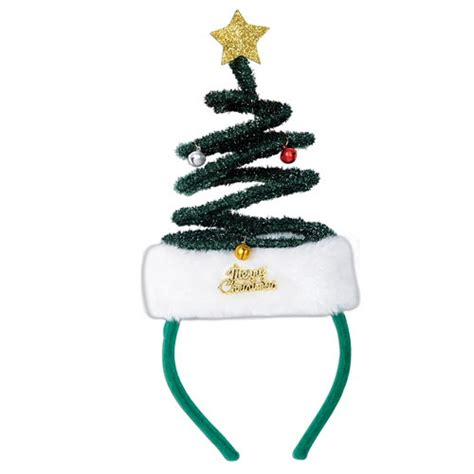 springy christmas tree headband partycheap