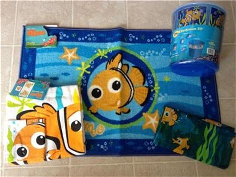finding nemo bathroom sets finding nemo 11 pc set shower curtain towels rug wastebasket soap lotion rare owl