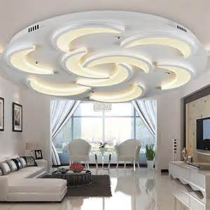 Flush Ceiling Lights Living Room Flush Mount Modern Ceiling Light For Living Room Moon Model Acrylic Light Guide Plate Laras