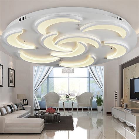 Flush Mount Modern Ceiling Light For Living Room Moon Ceiling Lights For Living Rooms