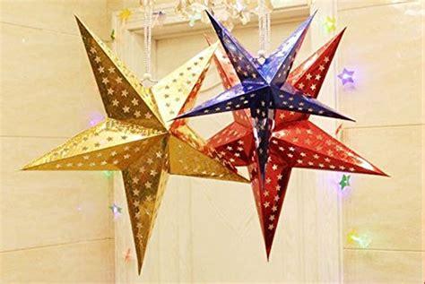 stelle da appendere al soffitto touber stelle bombate a 5 punte in carta laser
