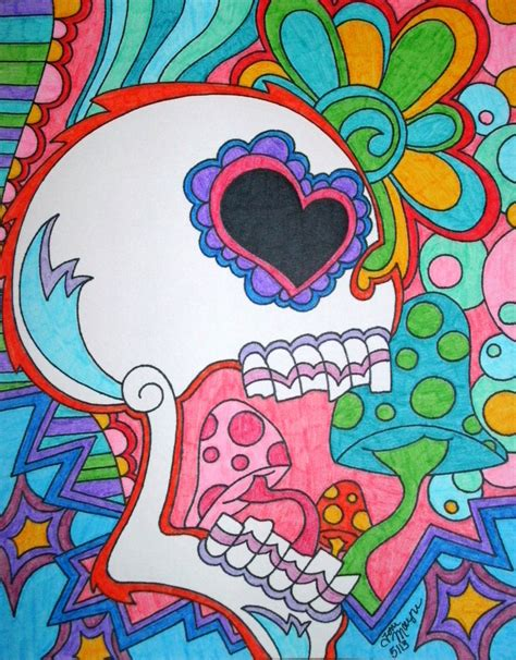 colorful drawings colorful skull by tonitiger415 on deviantart