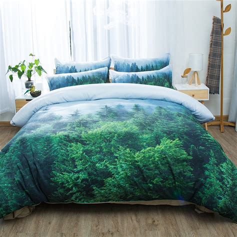 wheat field snow mountain tree forest  scenic bedding