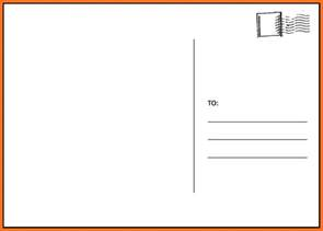 post card template blank postcard template soap format