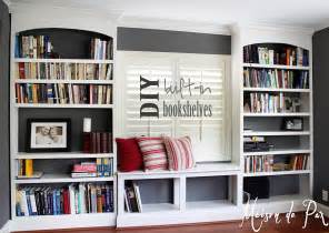 Built In Bookshelves Diy Diy Built In Bookshelves Maison De Pax