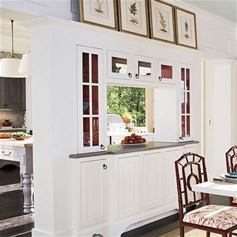 Dining Room To Kitchen Pass Through Built In Buffet Between Kitchen And Dining Room For My