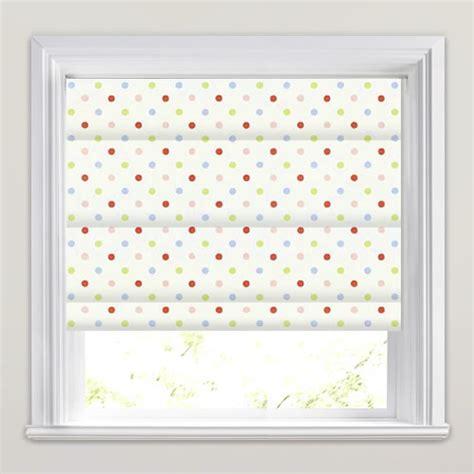 pink patterned roman blind red pink green blue white polka dot patterned roman