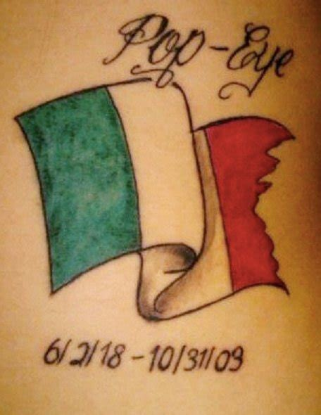 small italian tattoos small italian flag with lettering