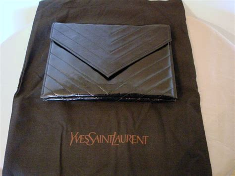 Tas Ysl 15 yves laurent chevron envelop tas clutch