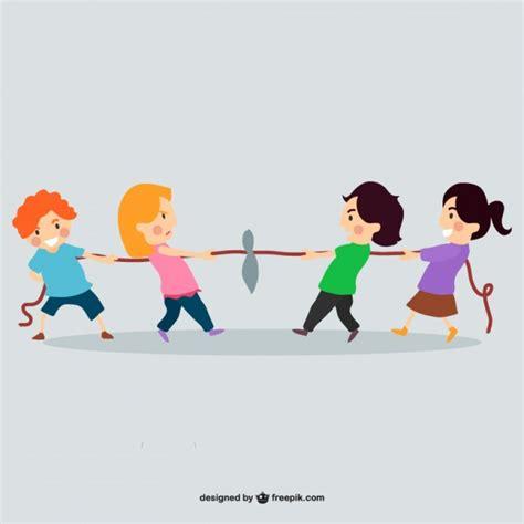 imagenes de niños jugando ala cuerda ni 241 os jugando con una cuerda descargar vectores gratis