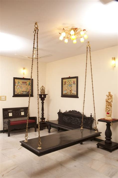 South Indian Home Decor Oonjal Wooden Swings In Indian Homes