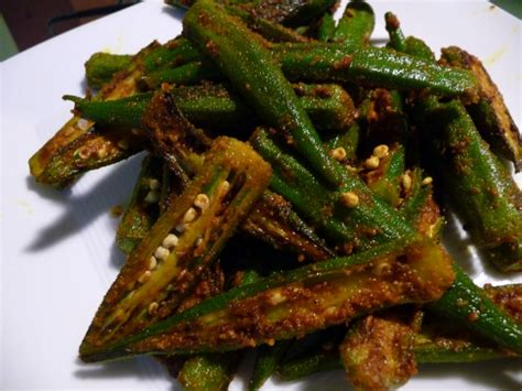 spiced okra recipe dishmaps