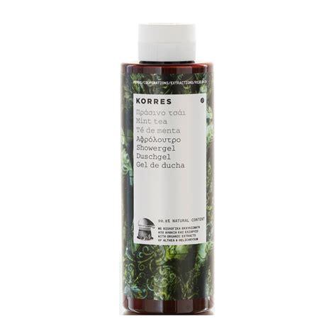 Korres Shower Gel by Korres Mint Tea Showergel 250ml Feelunique